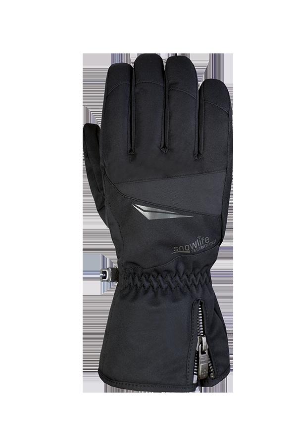gant d'hiver et de ski noir pour skieurs actifs avec membrane Dry-Tec