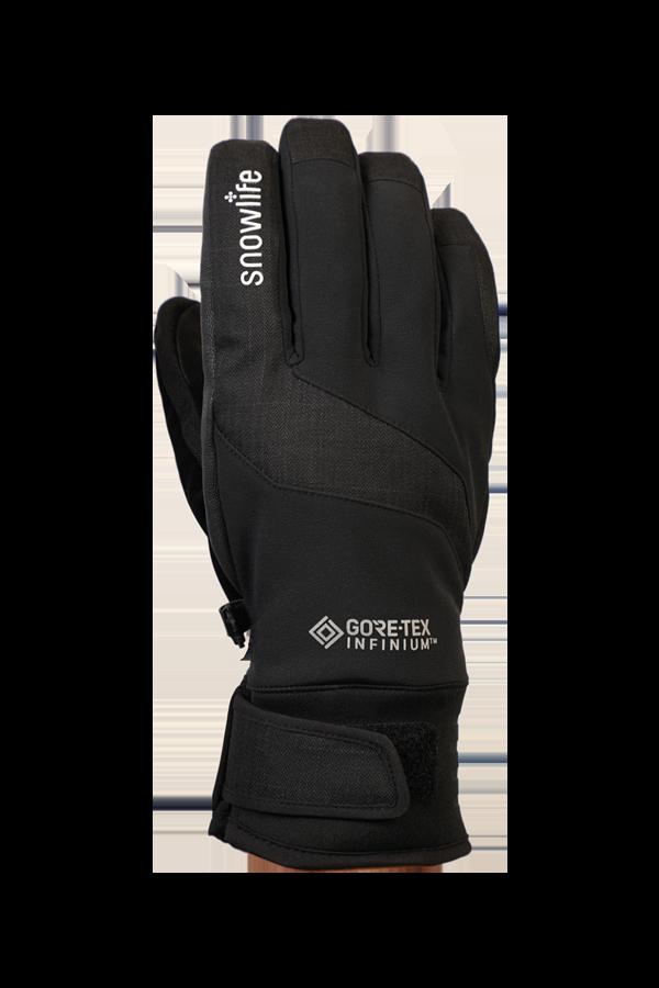 Argali WS Glove, gants de sport, coupe-vent, avec poignée en cuir, noir