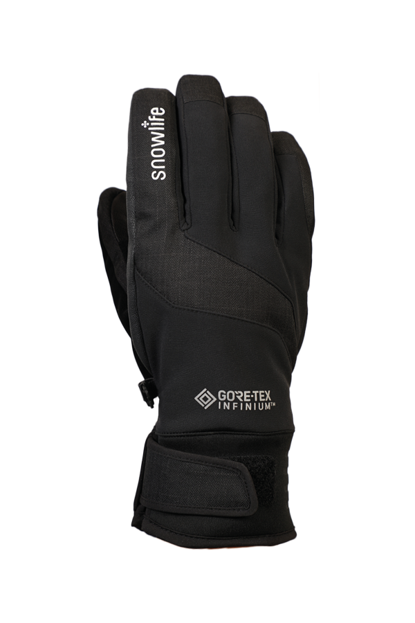 Argali WS Glove, schwarzer und sehr sportlicher Handschuhe, absolut winddicht mit Leder-Grip, Ansicht Handrücken