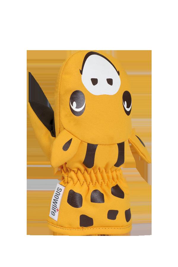 Baby Animal Mitten, mitaines chaudes pour bébé en motif animalier girafe, couleur orange
