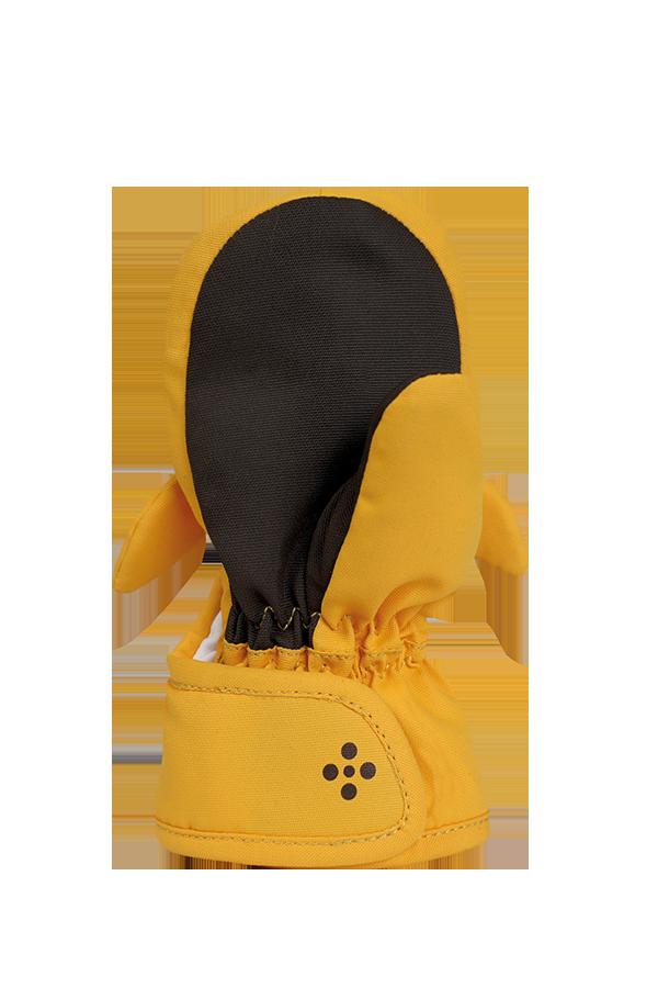 Baby Animal Mitten, warm baby mittens in animal design giraffe, colour orange, view palm