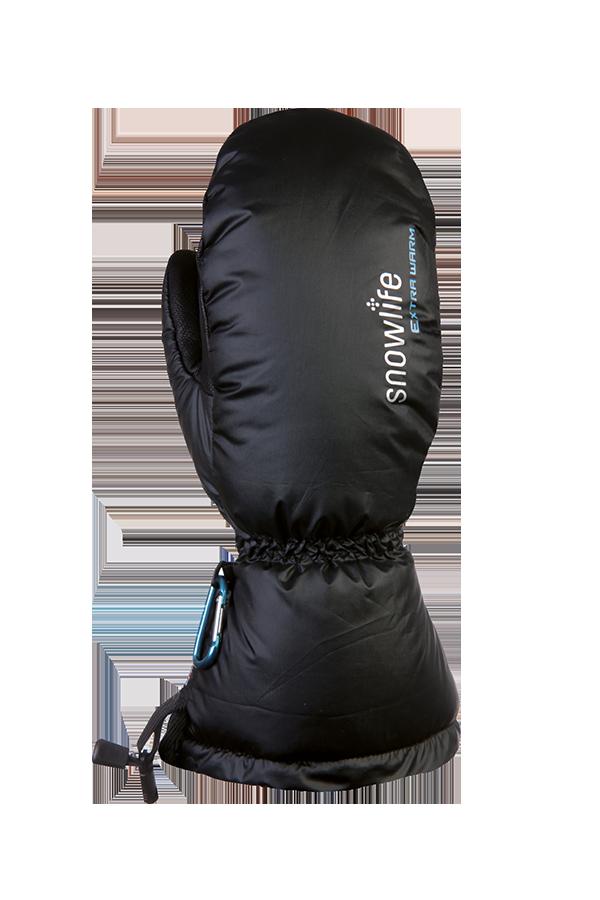 black down mitten, extremely warm with Primaloft insulation