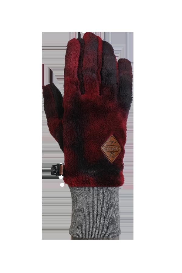 rouge, gant en polaire High Pile très moelleux pour la saison froide