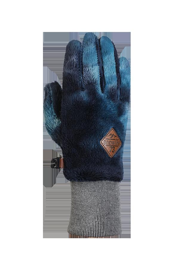 bleu, gant en polaire High Pile très moelleux pour la saison froide