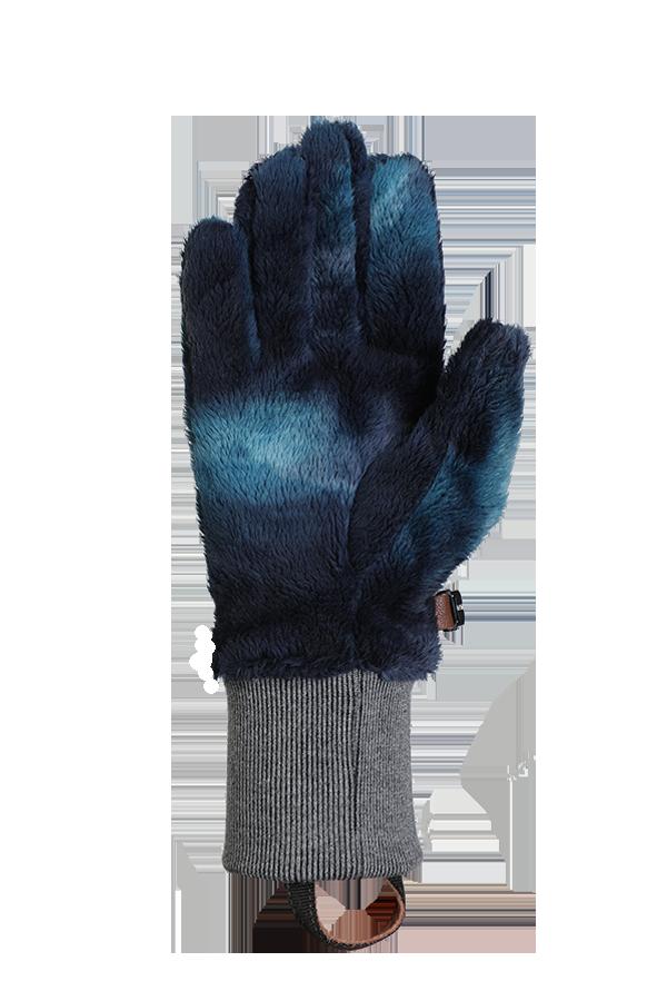 bleu, gant en polaire High Pile très moelleux pour la saison froide, voir la paume de la main