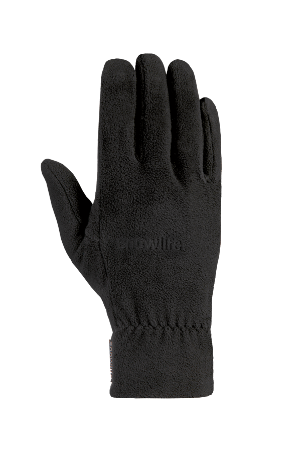a cozy black city fleece glove for winter time