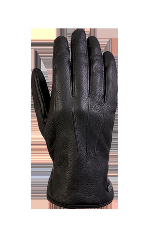 City Leather Glove, Gants en cuir, noir