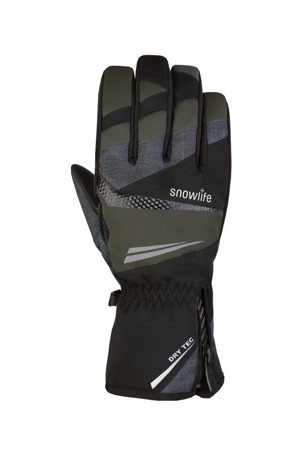 Comfort DT Glove, black and olive green glove with Dry-Tec membrane