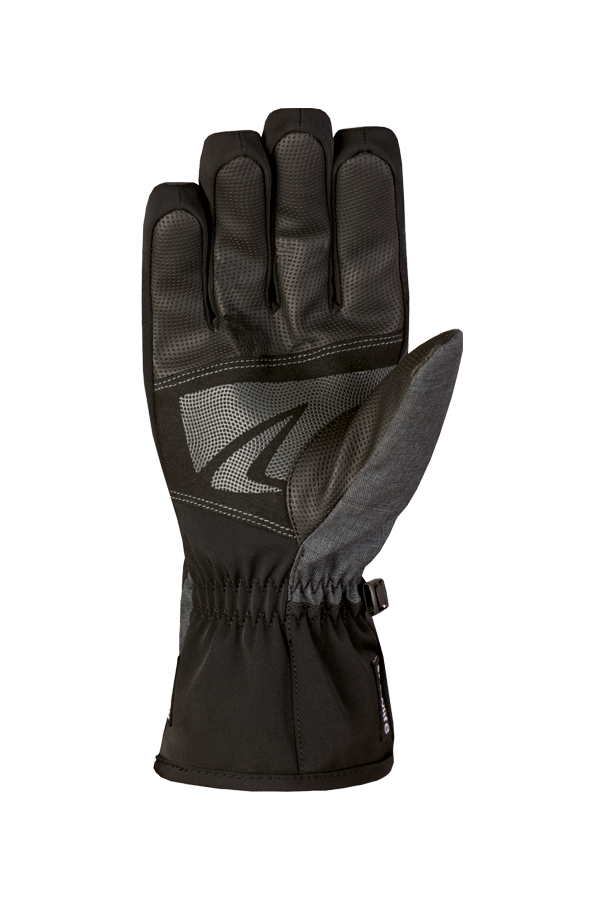 Comfort DT Glove, gant noir et vert olive avec membrane Dry-Tec, paume vue avec grip renforcé