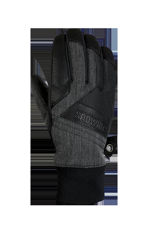 Cruise DT Glove, le gant freeride fait d'un mélange de textile et de cuir dans les couleurs gris et noir, vue revers