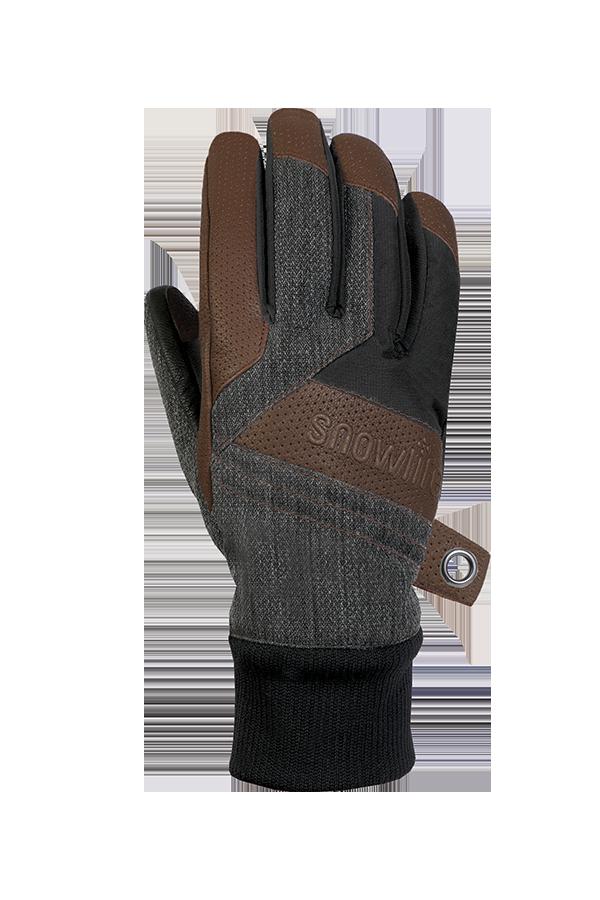 Cruise DT Glove, le gant freeride fait d'un mélange de textile et de cuir dans les couleurs marron, gris et noir, vue revers