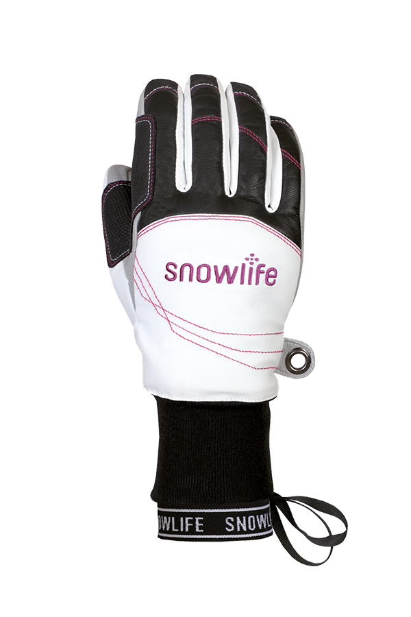 Flow DT Glove, Freeride Gants, blanc et rouge
