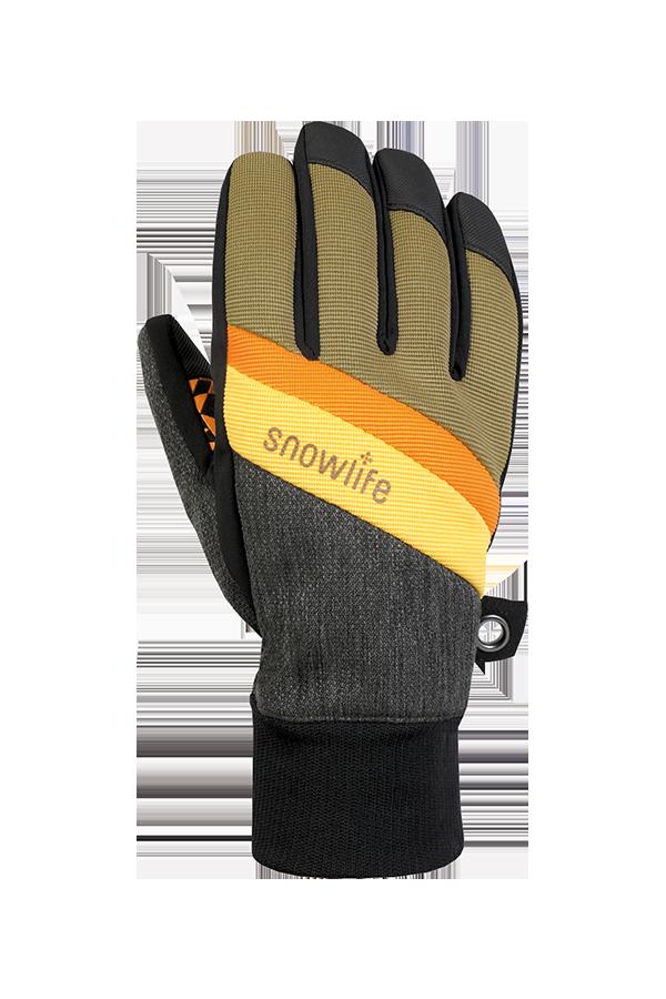 Future DT Glove, Freeride Gants, orange, jaune, brun