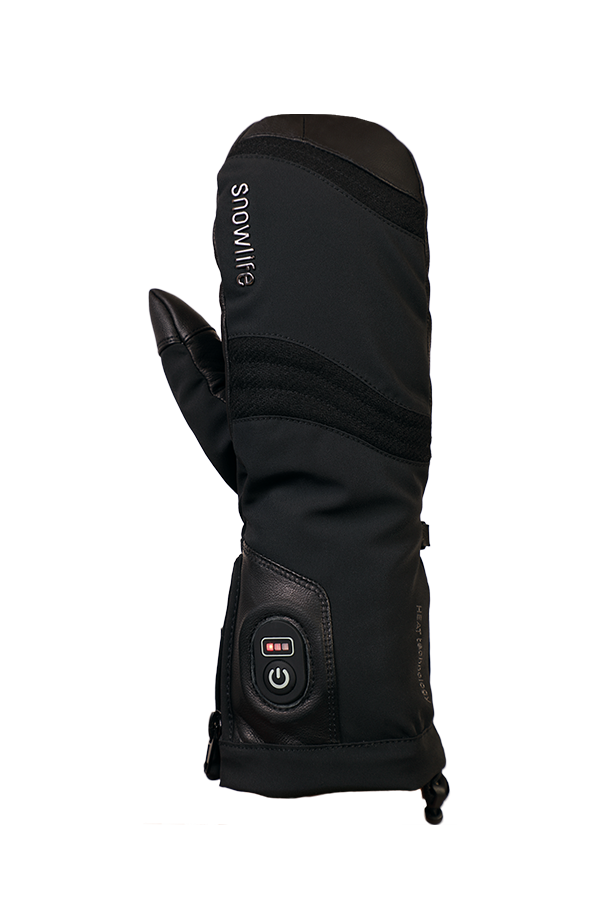Heat DT Glove, Mitten Gloves. heatable glove, with battery, extra warm, with Lavalan, black