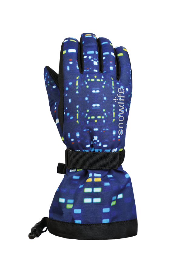 Juniors Long Cuff DT Glove, Gants pour Jeunes avec longue manchette, bleu
