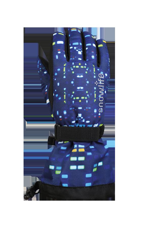 Juniors Long Cuff DT Glove, blue