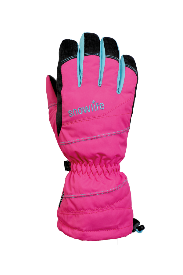 Junior Lucky GTX Glove, gloves for kids, with Gore-Text membrane, warm, breathable, waterproof, pink, blue