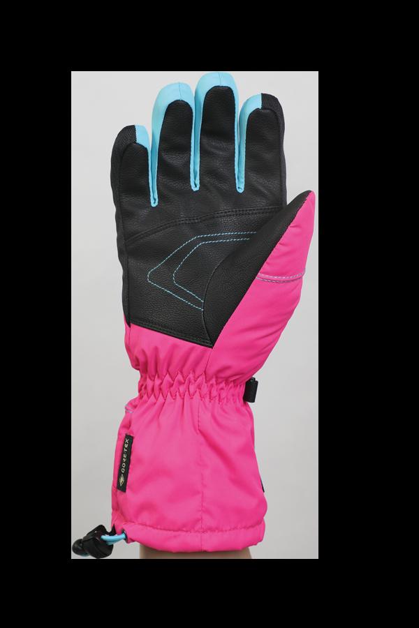 Junior Lucky GTX Glove, Handschuhe für Kinder, mit Gore-Text Membrane, warm, atmungsaktiv, wasserfest, pink, blau