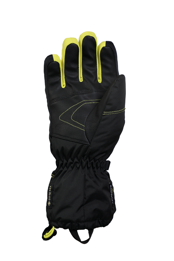 Junior Lucky GTX Glove, gloves for kids, with Gore-Text membrane, warm, breathable, waterproof, black, yellow