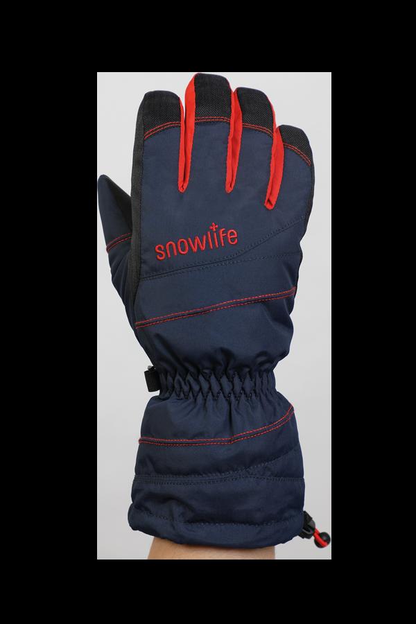 Junior Lucky GTX Glove, gants pour enfants, avec membrane Gore-Text, chaud, respirant, imperméable, bleu, orange