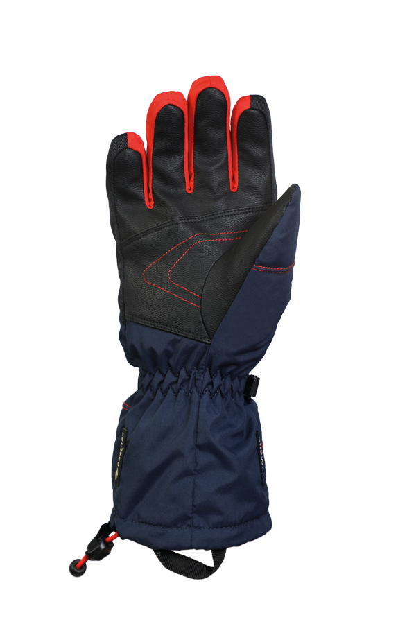 Junior Lucky GTX Mitten, gloves for kids, with Gore-Text membrane, warm, breathable, waterproof, in color blue orange