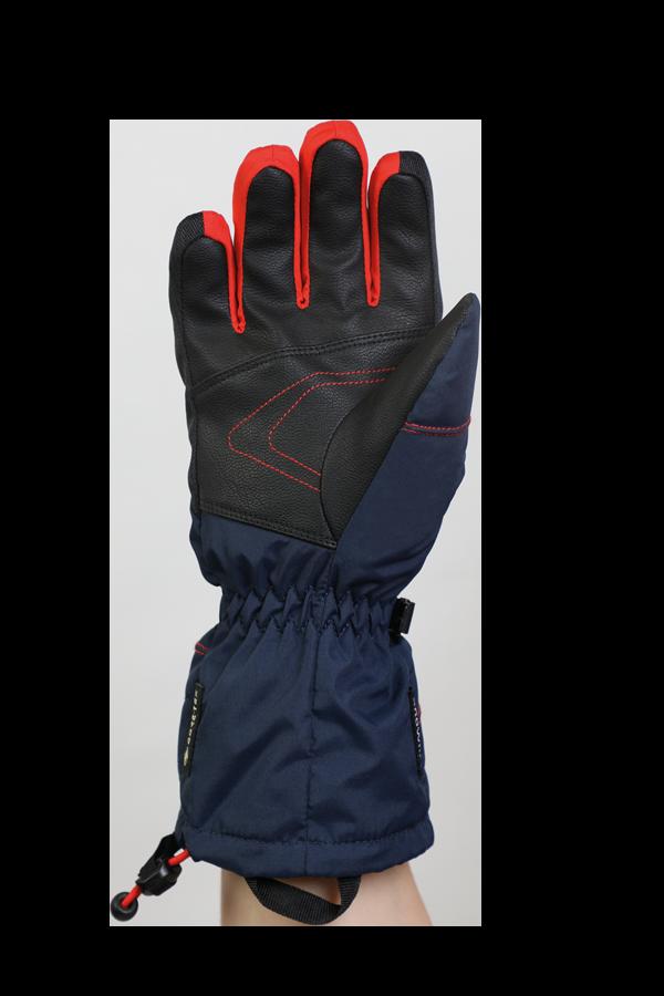 Junior Lucky GTX Glove, Handschuhe für Kinder, mit Gore-Text Membrane, warm, atmungsaktiv, wasserfest, blau, orange