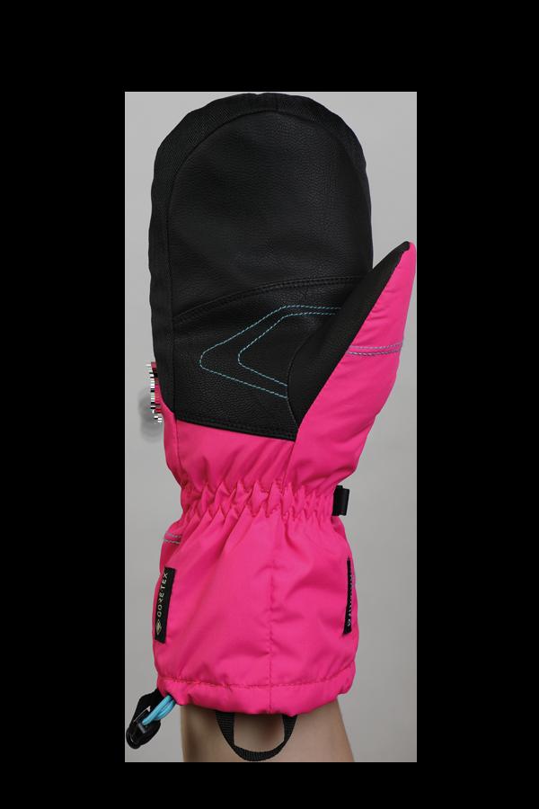 Junior Lucky GTX Glove, Moufles, gants pour enfants, avec membrane Gore-Text, chaud, respirant, imperméable, rose, bleu