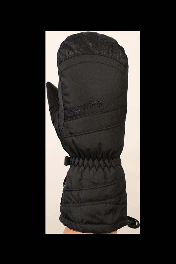 Junior Lucky GTX Glove, Fausthandschuhe, Handschuhe für Kinder, mit Gore-Text Membrane, warm, atmungsaktiv, wasserfest, schwarz