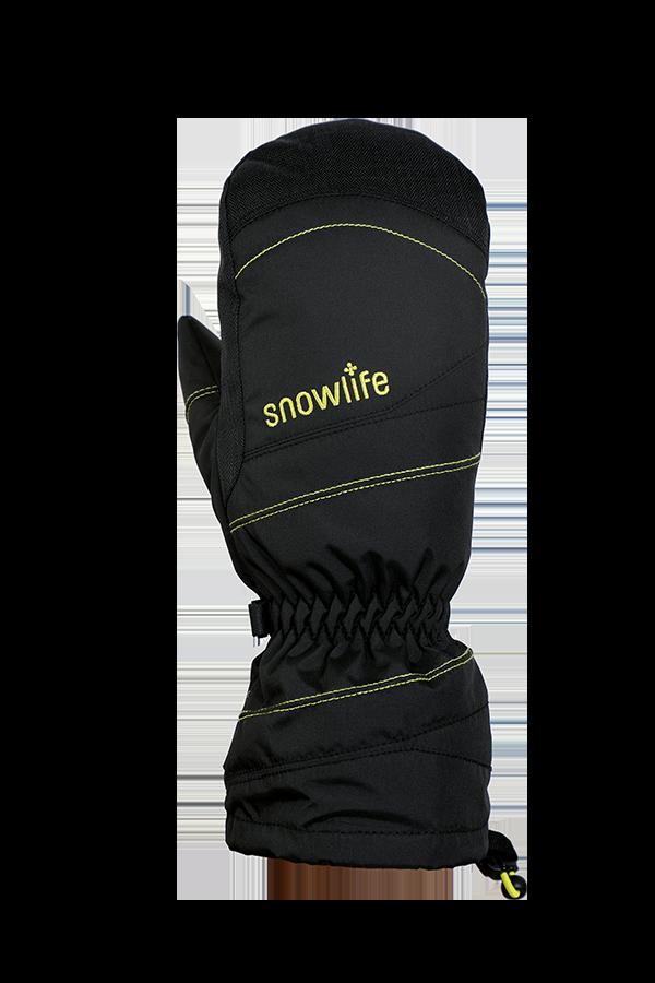 Junior Lucky GTX Glove, Moufles, gants pour enfants, avec membrane Gore-Text, chaud, respirant, imperméable, noir, jaune