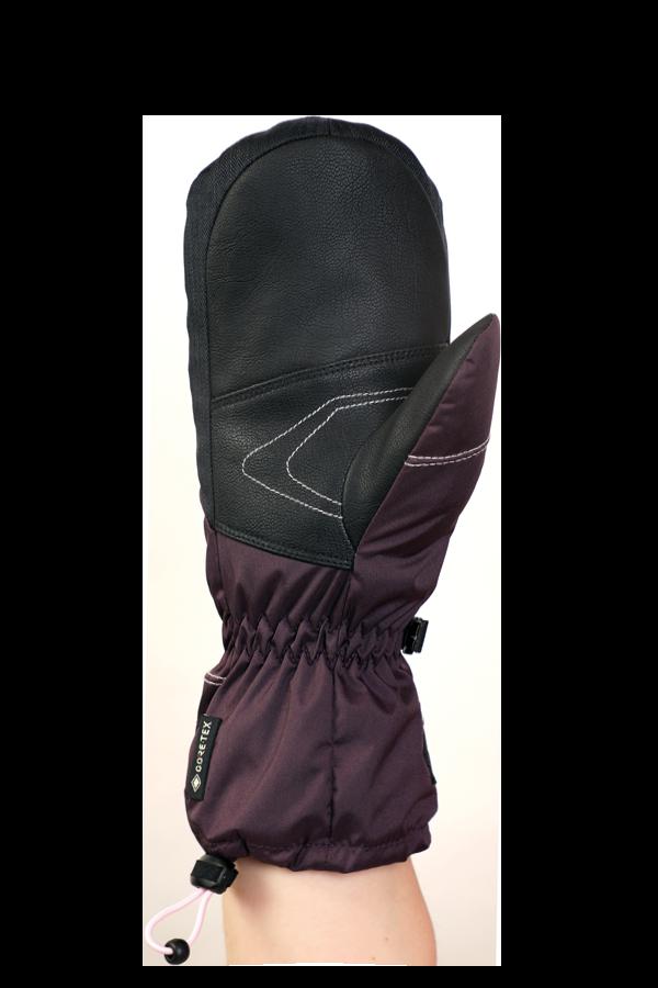 Junior Lucky GTX Glove, Moufles, gants pour enfants, avec membrane Gore-Text, chaud, respirant, imperméable, violette, rosa