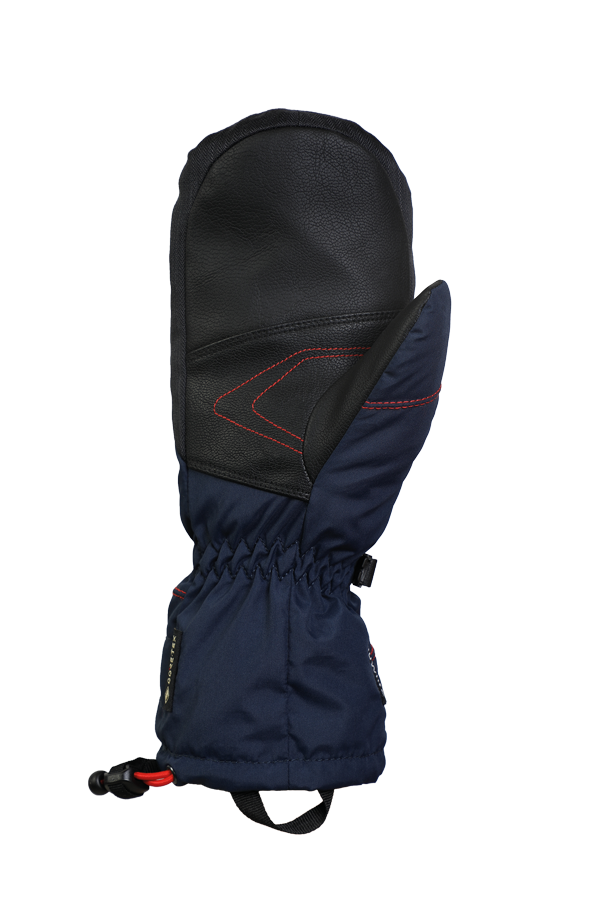 Junior Lucky GTX Mitten, gloves for kids, with Gore-Text membrane, warm, breathable, waterproof, blue, orange