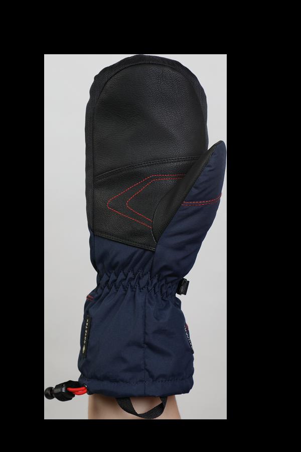 Junior Lucky GTX Glove, Fausthandschuhe, Handschuhe für Kinder, mit Gore-Text Membrane, warm, atmungsaktiv, wasserfest, blau, orange