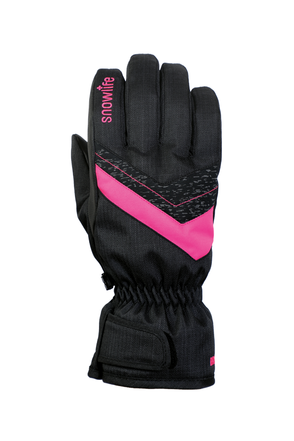 Junior Orion DT Glove, kid gloves, warm, water resistant, black, pink