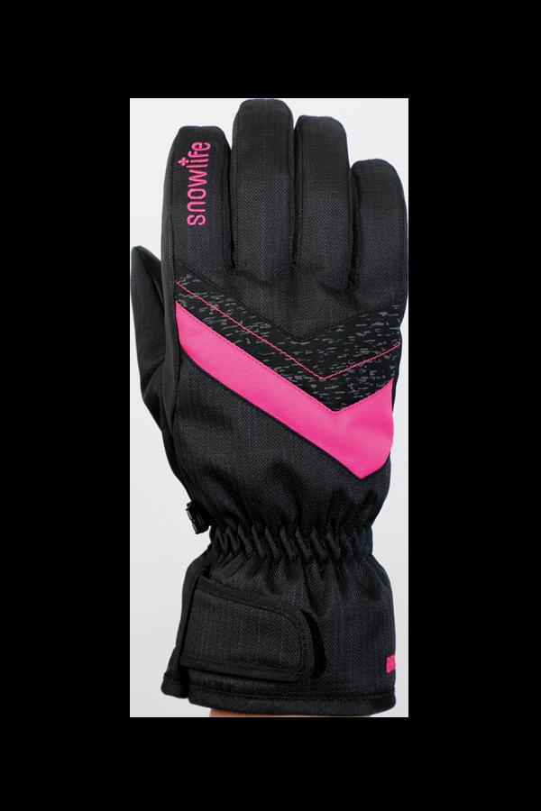 Junior Orion DT Glove, gants pour enfants, chaud, résistant à l'eau, noir, rose