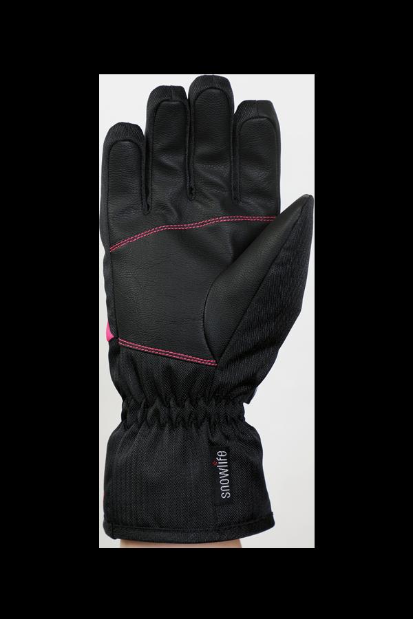 Junior Orion DT Glove, kid gloves, warm, water resistant, black, pink