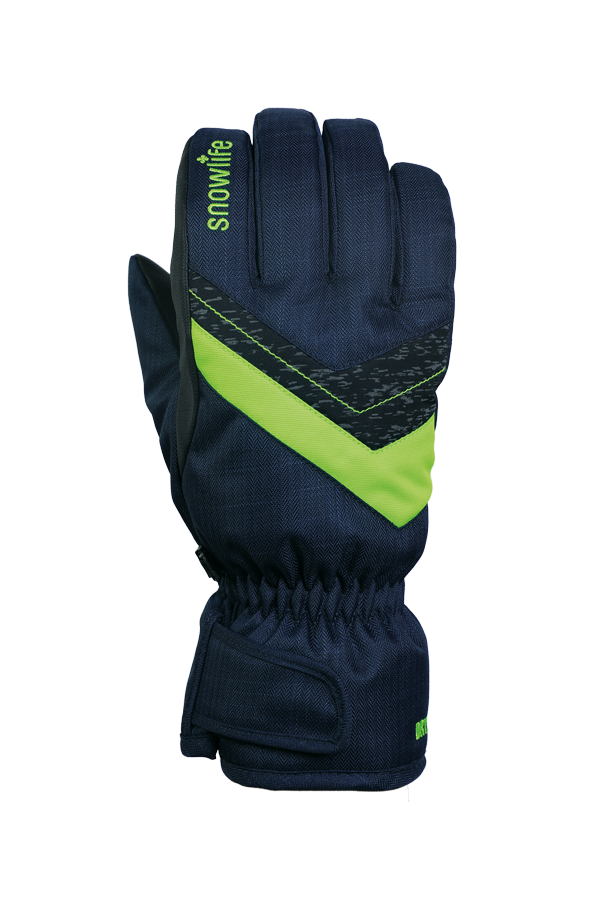 Junior Orion DT Glove, kid gloves, warm, water resistant, blue, green