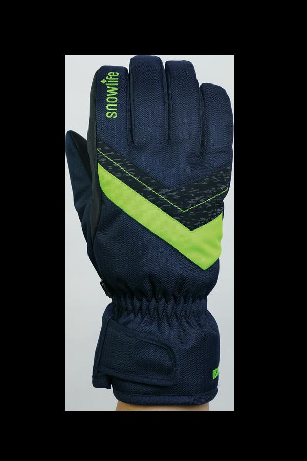 Junior Orion DT Glove, gants pour enfants, chaud, résistant à l'eau, bleu, vert