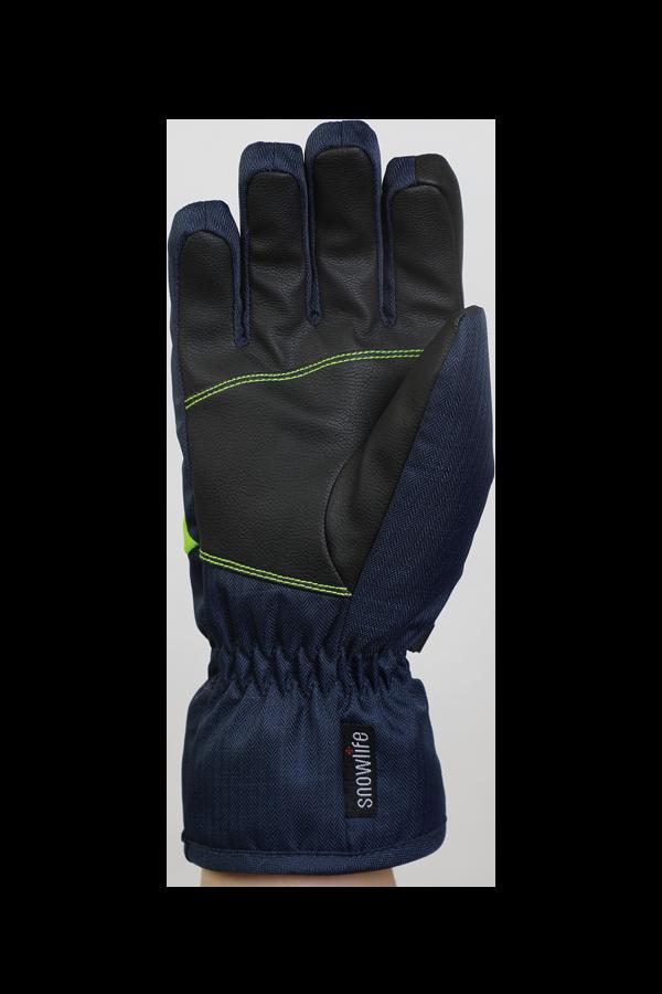 Junior Orion DT Glove, kid gloves, warm, water resistant, blue, green