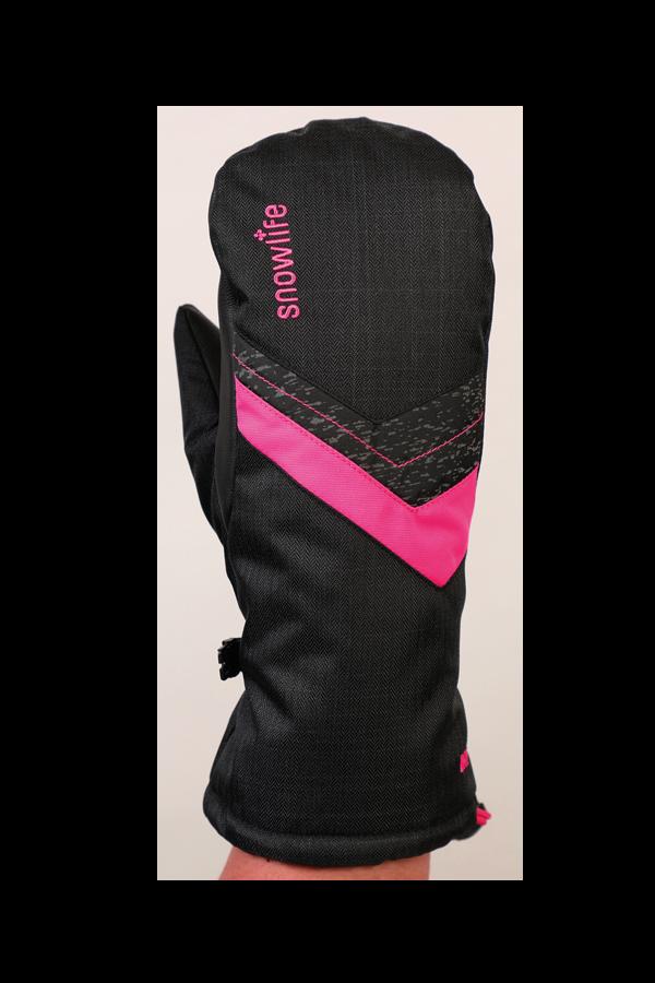 Junior Orion DT Glove, Fausthandschuhe, Kinderhandschuhe, warm, wasserabweisend, schwarz, pink