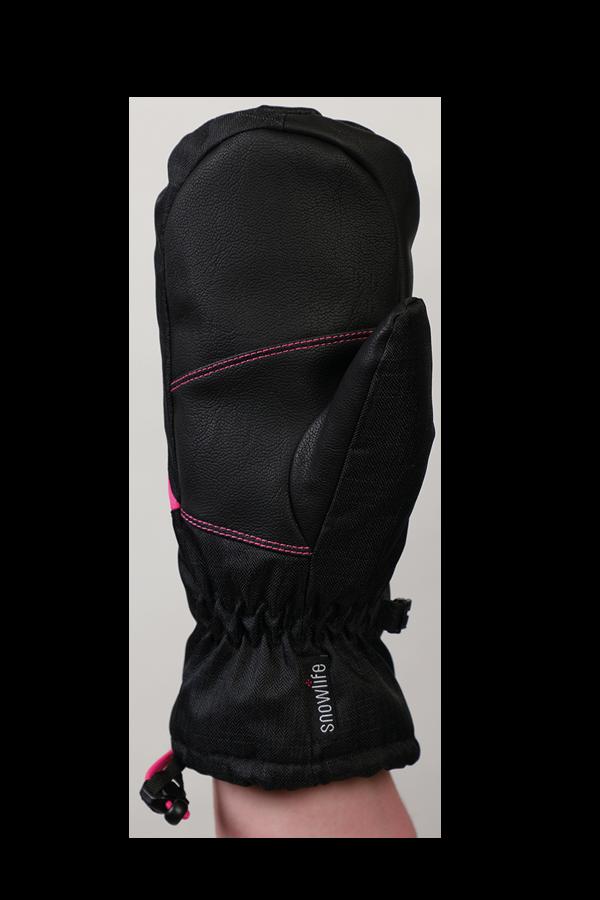 Junior Orion DT Mitten, kid gloves, warm, water resistant, black, pink