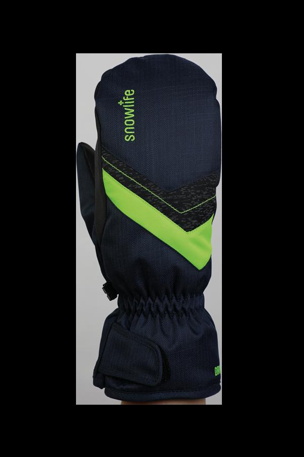 Junior Orion DT Glove, moufles, gants pour enfants, chaud, résistant à l'eau, bleu, bert