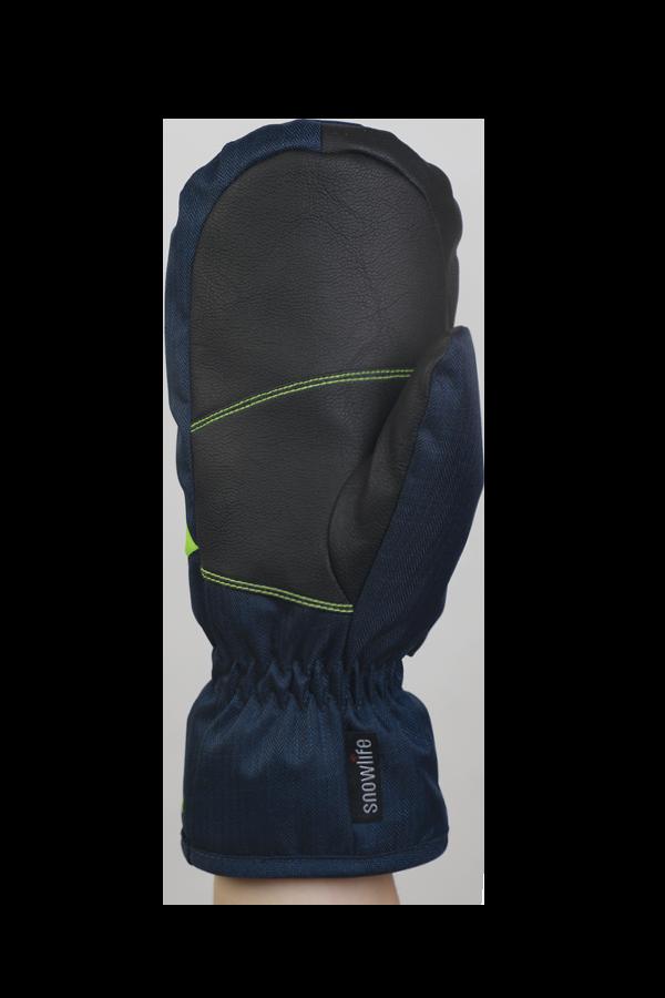 Junior Orion DT Mitten, kid gloves, warm, water resistant, blue, green