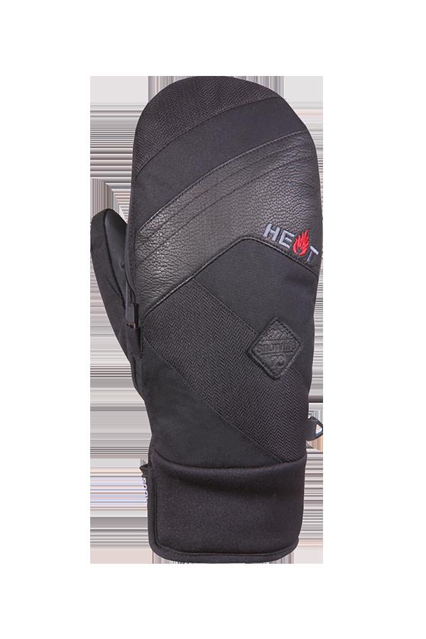 Juniors Thermo Mitten Short, Mitten Gloves for children, extra warm, black