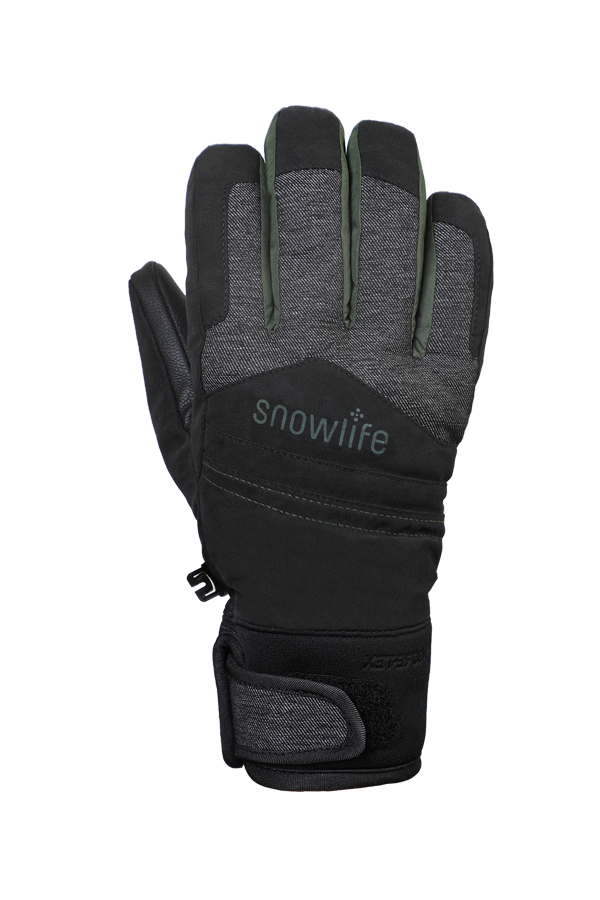 Freeride, Children Kids,Gloves with Gore-Tex membrane, black, olive green