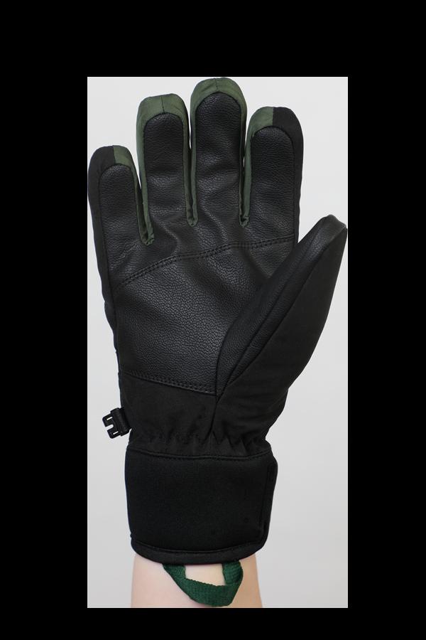 Freeride, Children Kids,Gloves with Gore-Tex membrane, black, olive green