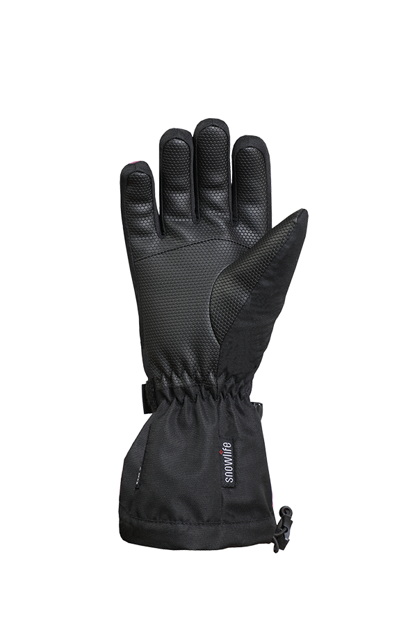 Kids Long Cuff DT Glove, Gants pour enfants avec longue manchette, noir