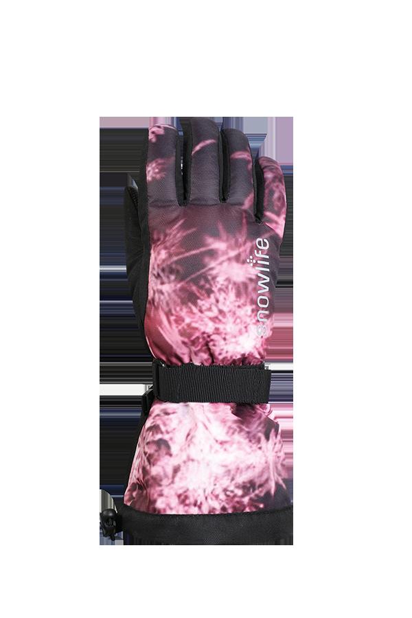 Kids Long Cuff DT Glove, Gants pour enfants avec longue manchette, rosa