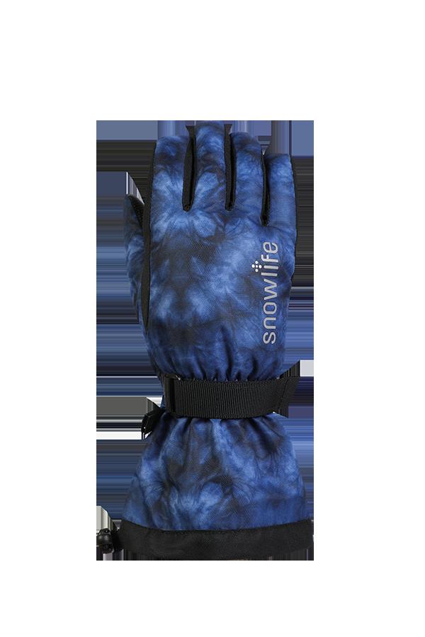 Kids Long Cuff DT Glove, Gants pour enfants avec longue manchette, bleu, noir