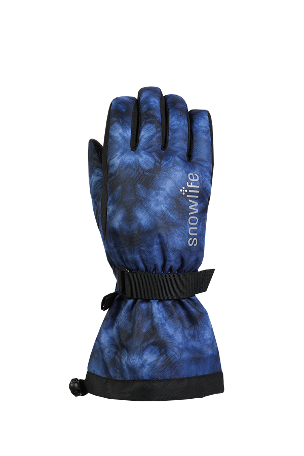 Kinds Long Cuff DT Glove, royal blue, water pattern