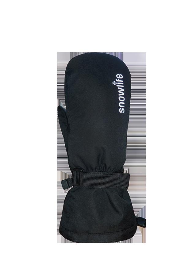 Kids Long Cuff DT Glove, Gants, Moufles pour enfants avec longue manchette, noir